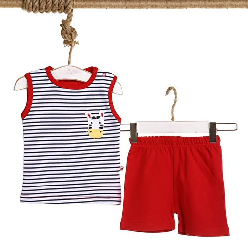 Baby Boy Zebra Embroidered Boy Athlete Short