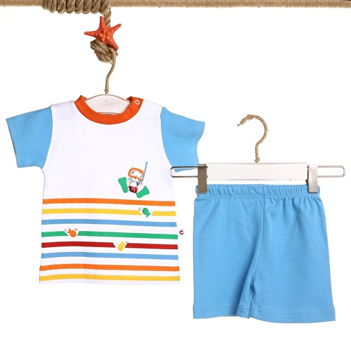 Baby Boy Colored Printed Boy Tshirt Short
