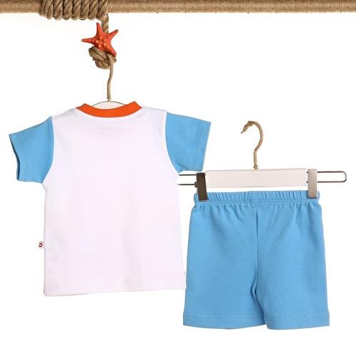 Baby Boy Colored Printed Boy Tshirt Short