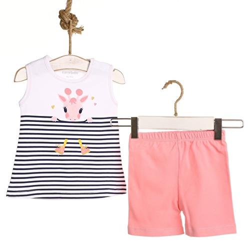 Striped Baby Girl Athlete Short