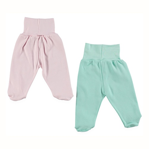 Wide Foldable Casual Waist Trousers 2 Pack