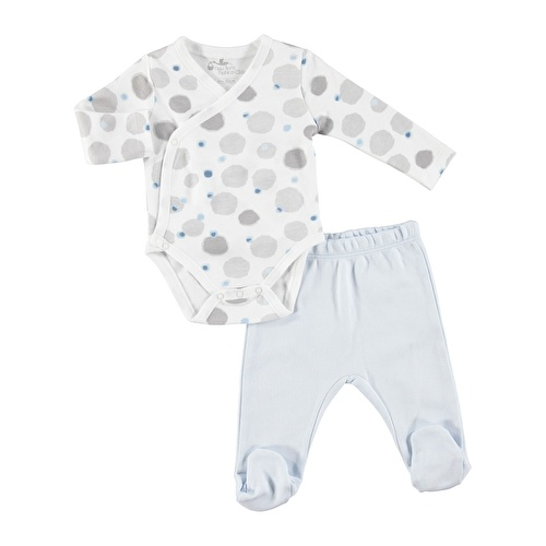 Baby Boy Coral Printed Bodysuits Footed Trousers