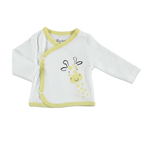 Yaz Erkek Bebek Sevimli Zürafa 3lü Zıbın-Şapka-Patikli Alt