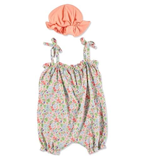 Tropical Summer Baby Girl Romper Hat