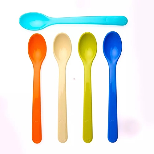 Short Handled Feeding Spoons Set 5 pcs