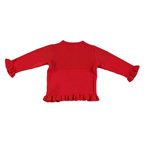 Winter Ruffled Snaps Baby Knit Cardigan