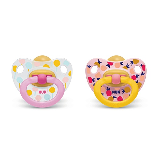 Assorted Happy Kids Rubber Pacifier 18 m+ 2 pcs