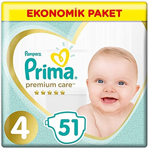 Premium Care Baby Diapers Size 4 Maxi Economic Pack 9-14 kg 51 pcs