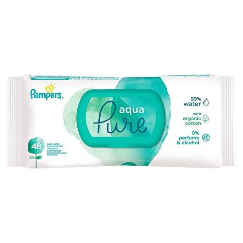 Pampers Aqua Pure Islak Havlu Tekli Paket 48 Yaprak