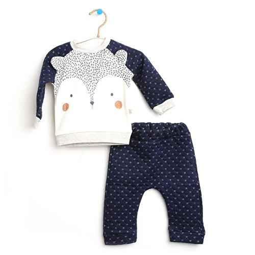 Baby Boy Little Squirrel Sweatshirt Trousers Set