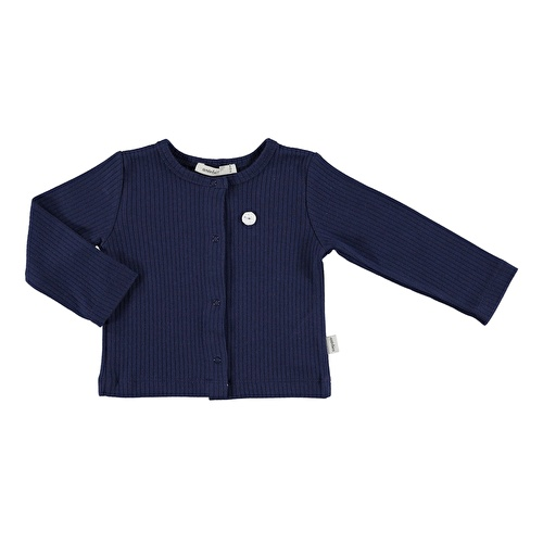 Baby Organic Navy Blue Reported Rib Jacket