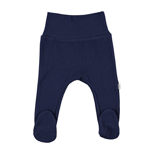 Baby Organic Navy Blue Reported Rib Pants