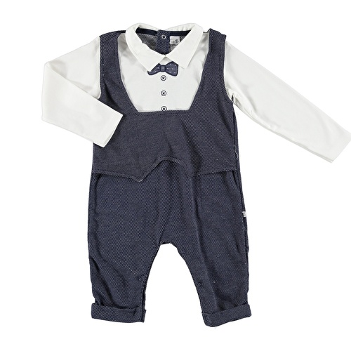 Bowtie Embroidered Baby Footless Romper