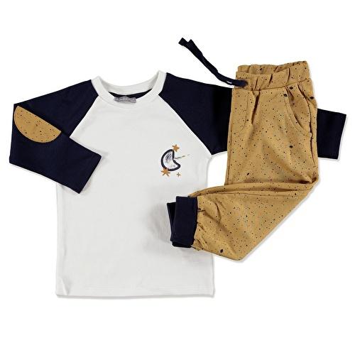 Erkek Bebek Gökyüzü Sweatshirt Tek Alt 2Li Takım