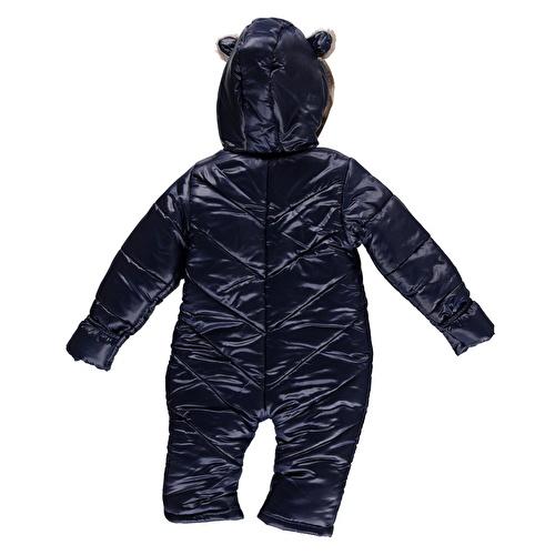 Kış Kapüşonu Kulaklı Erkek Bebek Welsoft Astarlı Astronot Tulum