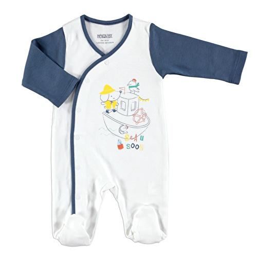 Bebek Marin Teması Patikli Çıtçıtlı Tulum