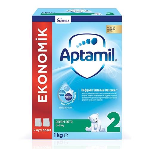 Yeni Aptamil 2 Ekonomik Paket Devam Sütü  1000 gr 6-9 Ay