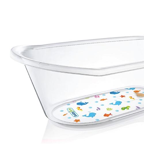 Clear Patterned Detail Plastic Baby Bathtub 50 Litre