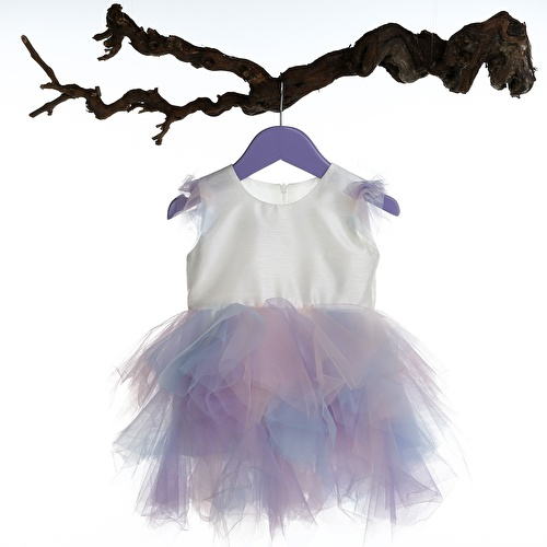 Colored Fluffy Baby Girl Dress