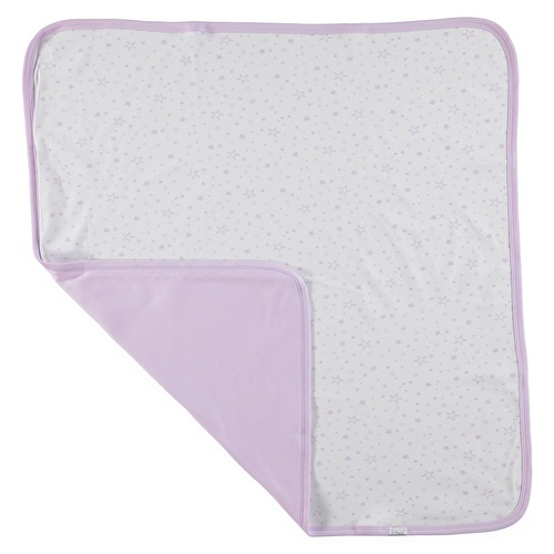 Baby Girl Star Patterned Multipurpose Blanket 80x80 cm - Light Purple