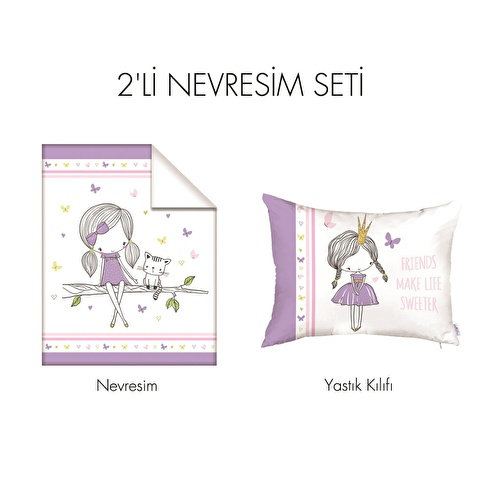 Baby All Girls Bed Duvet Cover & Pillow Case 2 pcs Set