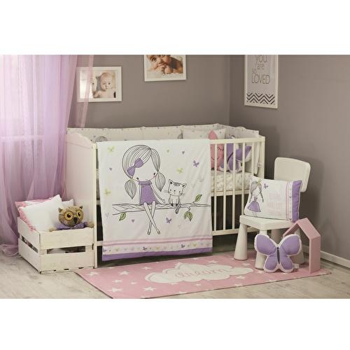 Bebek All Girls Dolgulu Nevresim Ve Yastık Kılıfı 2'Li Set