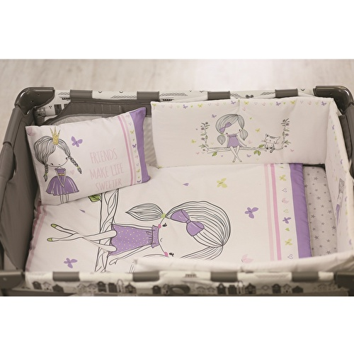 Baby Unicorn Bed Filled Duvet Cover & Pillow Case 2 pcs Set