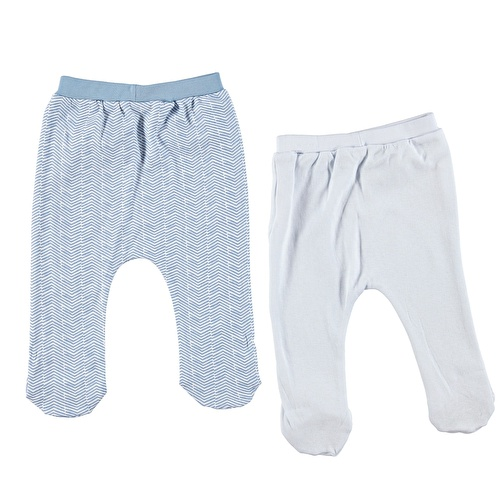Baby Boy Little Lion Basic 2 Pack Footed Pant