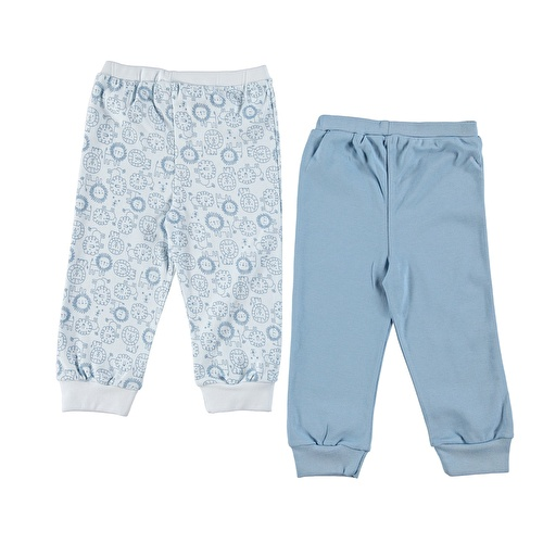 Baby Boy Little Lion Basic 2 Pack Footless Pant