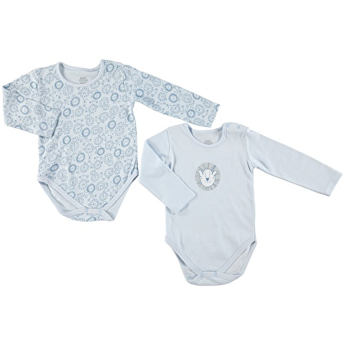 Baby Boy Little Lion 2 Pack Long Sleeve Bodysuit