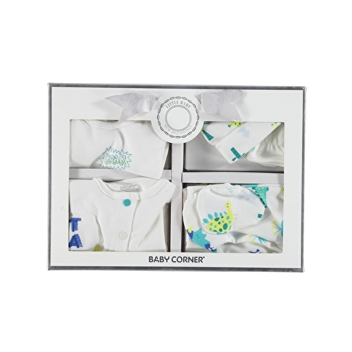 Dino Newborn Hospital Pack 5 pcs (Newborn Baby Boy Clothes Toddler Infant Set)