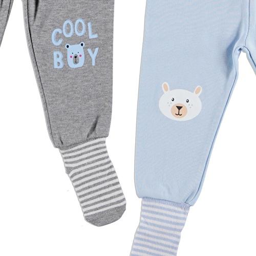 Printed Baby Pants Socks Set