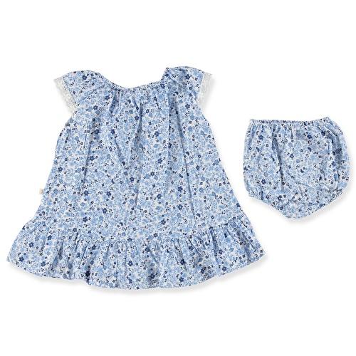 Kız Bebek Çiçekli Külotlu Elbise