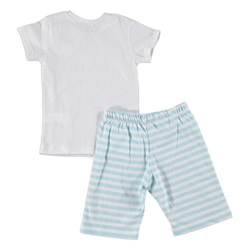 Şampiyon Baskılı Kısa Kol Erkek Bebek Pijama Takımı