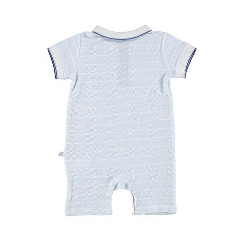 Baby Boy Marin Polo Neck Pocket Detailed Short Romper