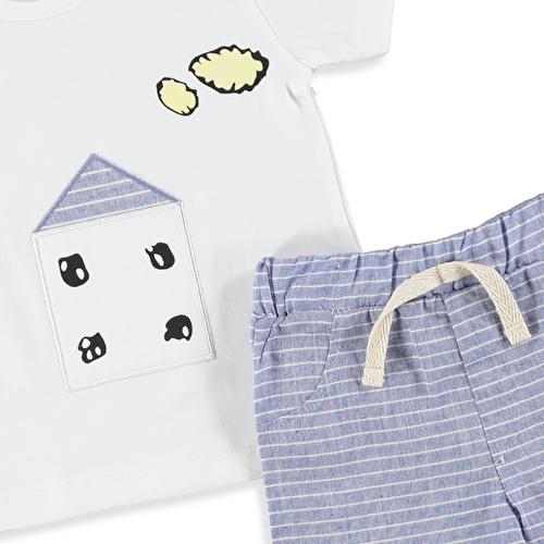 Yaz Erkek Bebek Home Tshirt Şort 2li Takım