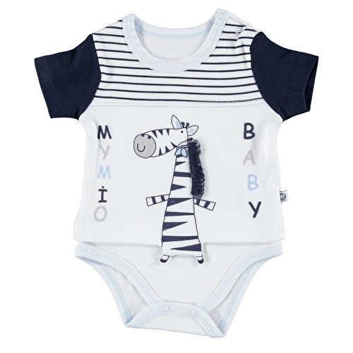 Çizgili Erkek Bebek Kısa Kol Body