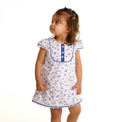 Flower Short Sleeve Baby Girl Dress