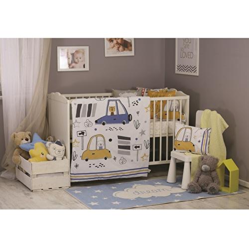 Baby Cars Bed Filled Duvet 3 pcs Set