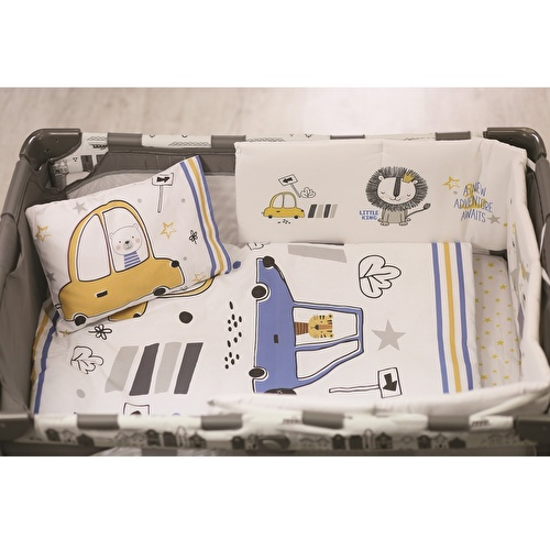 Baby Cars Bed Filled Duvet Cover 80x100 cm