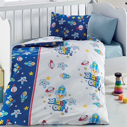 Ufo Patterned Duvet Cover Set