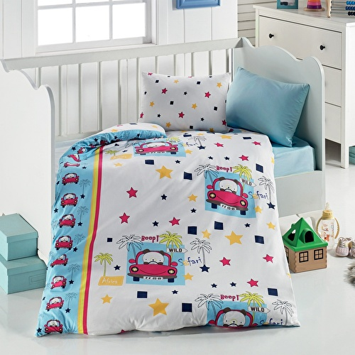 Car Patterned Duvet Cover Set