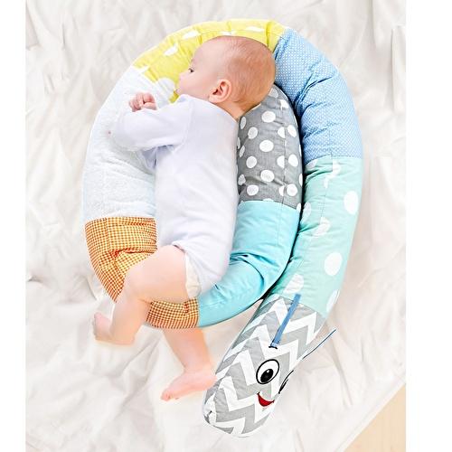 Tırtıl Bebek Yastık Mavi