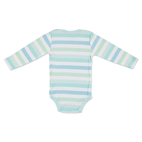 Stars Baby Snaps Collar Long Sleeve Bodysuit
