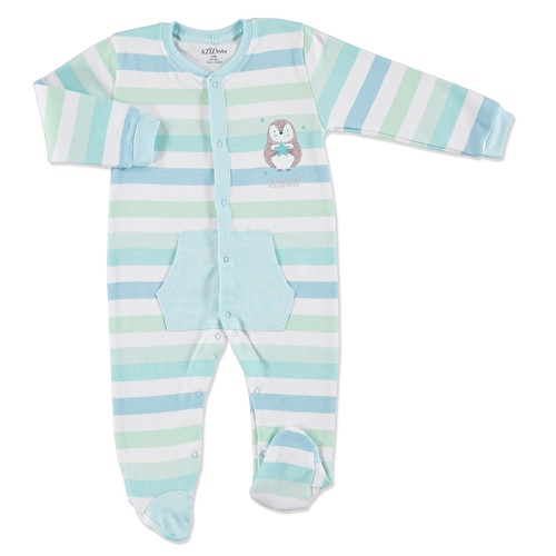 Stars Baby Footed Pocket Romper