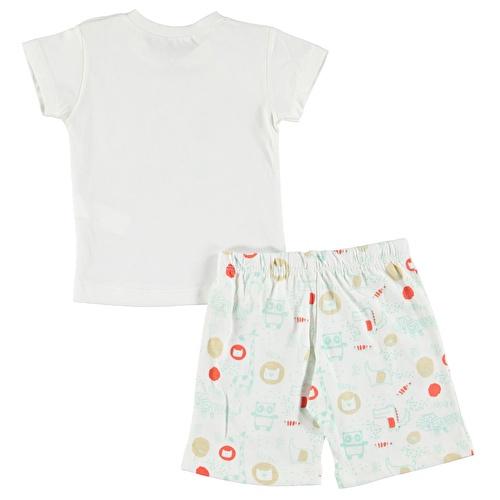 Aslancık Baskılı Kısa Kol Erkek Bebek Pijama Takımı