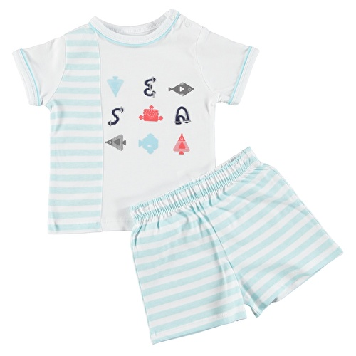 Baby Boy Nemo Polo Neck Tshirt Short Set