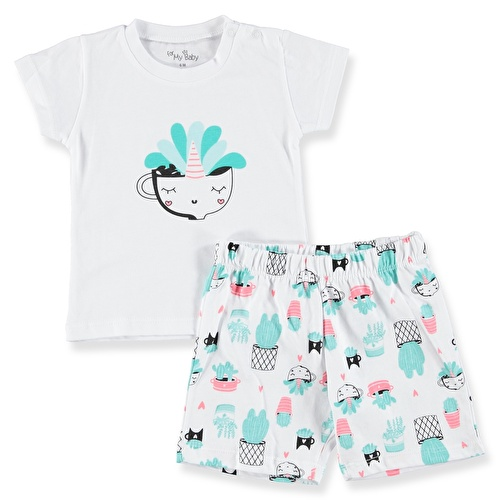 Cactus Printed Short Sleeve Baby Girl Pyjamas
