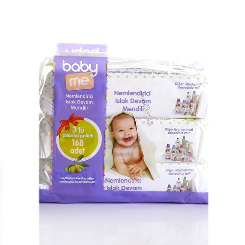Natural Moisturising Baby Wet Wipes 3x56 pcs