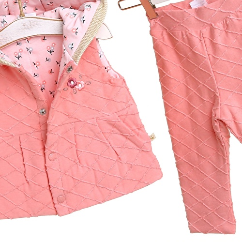 Carla Baby Girl Hoodie Vest Trousers Set